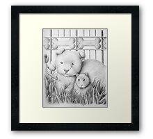 Dog And Hamster Framed Print