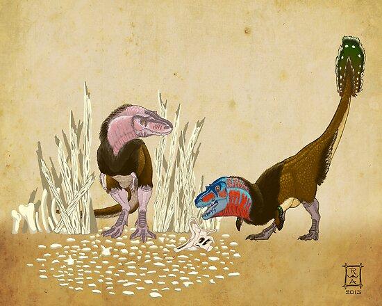 Lesser Bowertyrant (Gorgosaurus libratus) by alaskanime