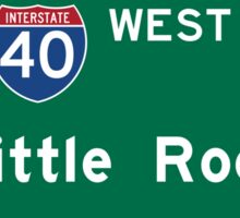 Little Rock, Road Sign, Arkansas Sticker