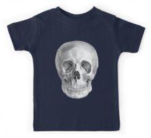 Albinus Skull 01 - Back To The Basic - White Background Kids Tee
