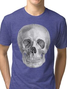 Albinus Skull 01 - Back To The Basic - White Background Tri-blend T-Shirt
