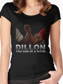 Arnold Predator Movie Dillon Women's Fitted Scoop T-Shirt