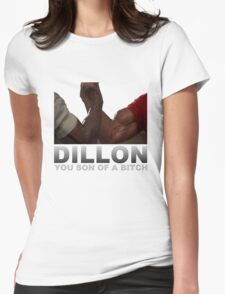 Arnold Predator Movie Dillon Womens Fitted T-Shirt