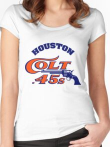 Houston Colt 45s Baseball Retro Women's Fitted Scoop T-Shirt