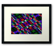 coloured layers Framed Print