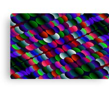 coloured layers Canvas Print