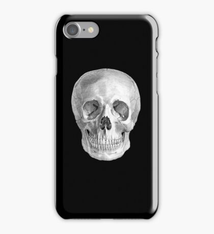 Albinus Skull 01 - Back To The Basic - Black Background iPhone Case/Skin
