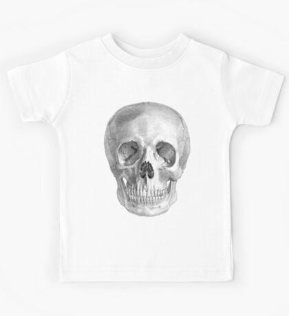 Albinus Skull 01 - Back To The Basic - Black Background Kids Tee