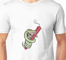 Rattle Snake Coiling Dynamite Cartoon Unisex T-Shirt