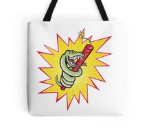 Rattle Snake Coiling Dynamite Cartoon Tote Bag