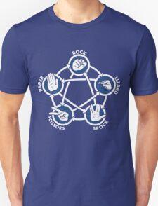 Rock Paper Scissors Lizard Sheldon Unisex T-Shirt