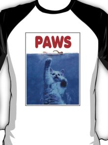 PAWS! JAWS Parody When Cats Attack T-Shirt