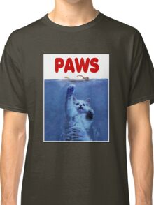 PAWS! JAWS Parody When Cats Attack Classic T-Shirt