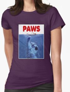 PAWS! JAWS Parody When Cats Attack Womens Fitted T-Shirt