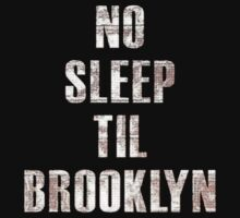 No Sleep Til Brooklyn Beastie Boys Retro Kids Clothes