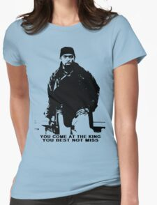 The Wire Omar Little Quote Womens Fitted T-Shirt