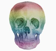 Albinus Skull 02 - Over The Rainbow - White Background Kids Clothes