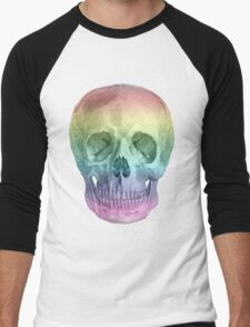 Albinus Skull 02 - Over The Rainbow - White Background Men's Baseball ¾ T-Shirt