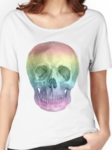 Albinus Skull 02 - Over The Rainbow - White Background Women's Relaxed Fit T-Shirt