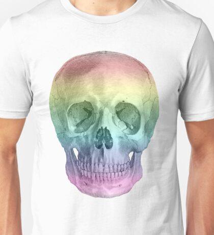 Albinus Skull 02 - Over The Rainbow - White Background Unisex T-Shirt