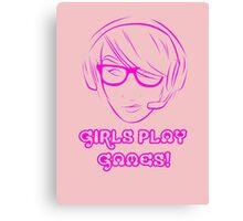 Girl Gamer Canvas Print