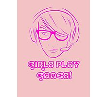 Girl Gamer Photographic Print
