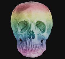 Albinus Skull 02 - Over The Rainbow - Black Background T-Shirt
