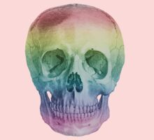 Albinus Skull 02 - Over The Rainbow - Black Background Kids Clothes