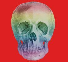 Albinus Skull 02 - Over The Rainbow - Black Background Kids Clothes