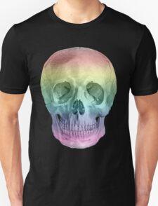 Albinus Skull 02 - Over The Rainbow - Black Background T-Shirt