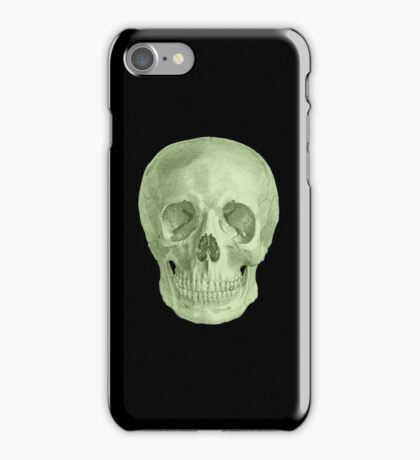 Albinus Skull 03 - Zombie Attack - Black Background iPhone Case/Skin