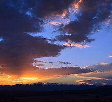 Clouds at Sunset by Alison Hill