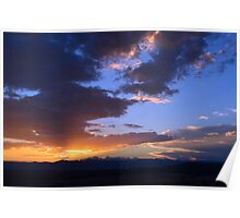 Clouds at Sunset Poster