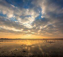 Sunset at Saltcotes, Near Ravenglass, Cumbria by Jan Fialkowski