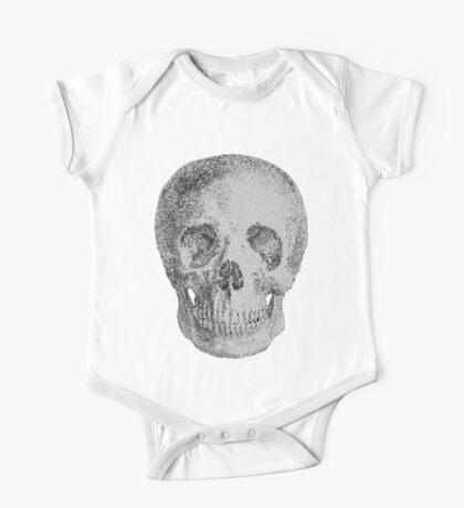 Albinus Skull 04 - Never Seen Before Genius Diamonds  - White Background One Piece - Short Sleeve