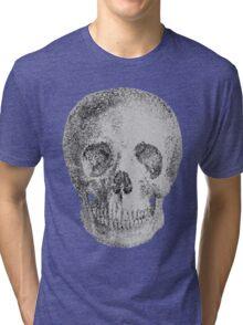Albinus Skull 04 - Never Seen Before Genius Diamonds  - White Background Tri-blend T-Shirt