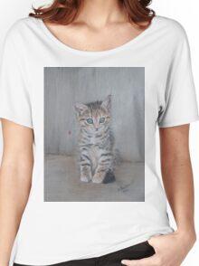 Grey kitten, Just Posing Women's Relaxed Fit T-Shirt