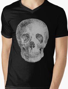 Albinus Skull 04 - Never Seen Before Genius Diamonds - Black Background Mens V-Neck T-Shirt