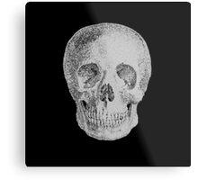 Albinus Skull 04 - Never Seen Before Genius Diamonds - Black Background Metal Print