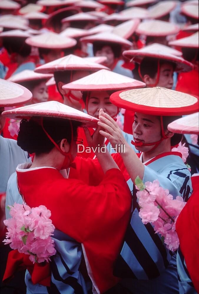 Japanese women in Heian period kimonos by David Hill