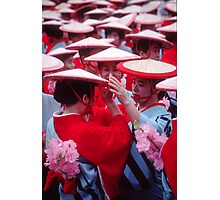 Japanese women in Heian period kimonos Photographic Print
