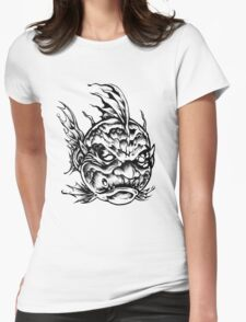 Fish Face Monster 2013 bw Womens Fitted T-Shirt