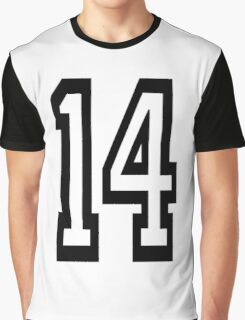 14, TEAM SPORTS, NUMBER 14, FOURTEEN, FOURTEENTH, Competition,  Graphic T-Shirt