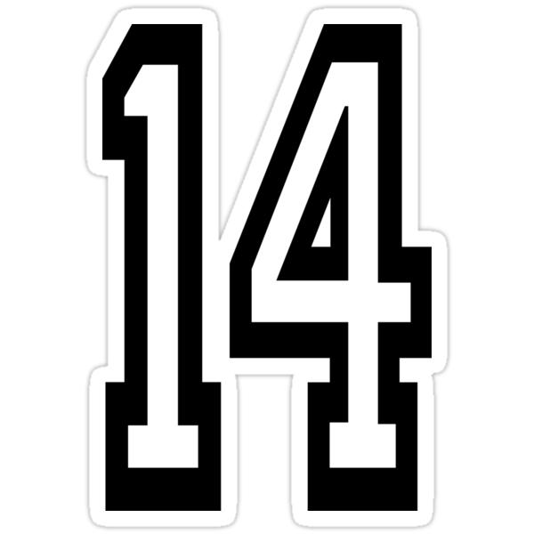 Quot 14 Team Sports Number 14 Fourteen Fourteenth