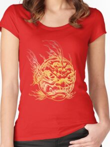 Bright Fish Face Monster 2013 Women's Fitted Scoop T-Shirt