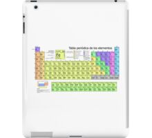 Periodic Table of Elements in Spanish (Tabla periódica de los elementos) iPad Case/Skin