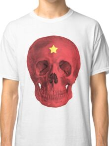 Albinus Skull 05 - Red Comunist Legend - White Background Classic T-Shirt