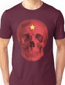 Albinus Skull 05 - Red Comunist Legend - White Background Unisex T-Shirt
