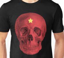 Albinus Skull 05 - Red Comunist Legend - Black Background Unisex T-Shirt