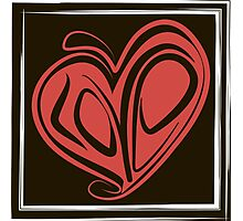 Love typography Photographic Print